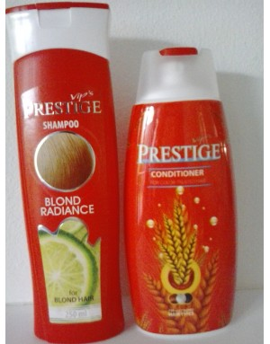 VIP'S PRESTIGE Kleurbeschermende GLANS Shampoo BLOND + TARWE Conditioner 500ml