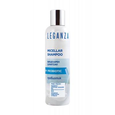 Leganza MICELLAIR Shampoo+Probiotic 0%SLS, 0%Parabenen, 0%Kleurstoffen o.a. Anti-Haaruitval, Haargroei  - Zonder Sulfaat en SLS 200ml