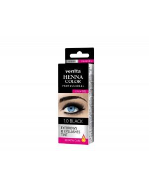 HENNA COLOR WIMPERVERF en WENKBRAUWVERF Color Gel Keratin Care Black 1.0
