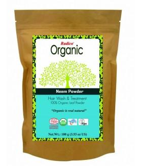 ORGANIC NEEM 100% Natuurlijke BIO Organic Anti-Luis, Anti-Haaruitval, Anti-Roos, Haargroei, bij Eczeem en Psoriasis, Care, Volume, Voedende Poeder 100g