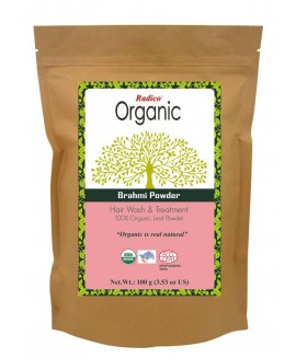 ORGANIC BRAHMI 100% Natuurlijke BIO Organic Care, Volume, Voedende Poeder 100g