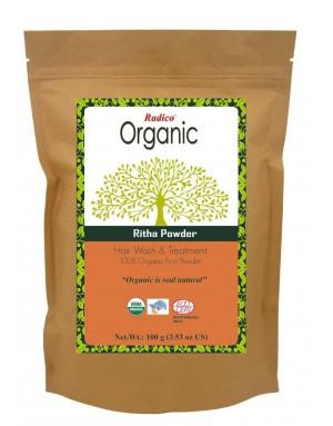 ORGANIC RITHA / REETHA 100% Natuurlijke BIO Organic Haar Reiniger, Conditioner, Care, Volume, Voedende Poeder 100g
